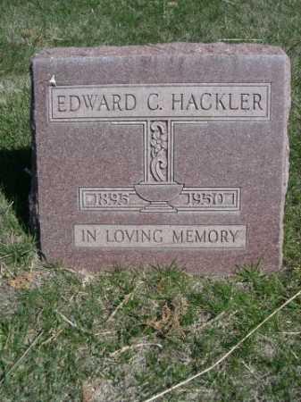 HACKLER, EDWARD C. - Dawes County, Nebraska | EDWARD C. HACKLER - Nebraska Gravestone Photos