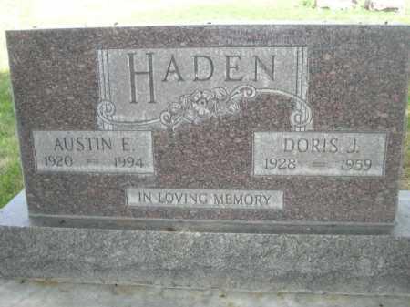HADEN, DORIS J. - Dawes County, Nebraska | DORIS J. HADEN - Nebraska Gravestone Photos