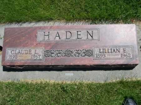 HADEN, CLAUDE L. - Dawes County, Nebraska | CLAUDE L. HADEN - Nebraska Gravestone Photos