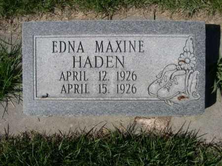 HADEN, EDNA MAXINE - Dawes County, Nebraska   EDNA MAXINE HADEN - Nebraska Gravestone Photos