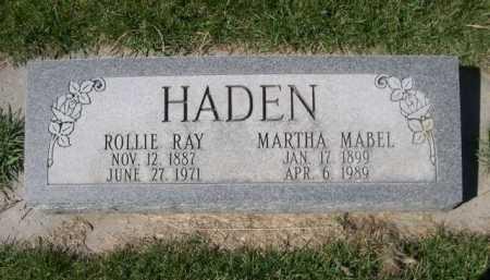 HADEN, ROLLIE RAY - Dawes County, Nebraska | ROLLIE RAY HADEN - Nebraska Gravestone Photos