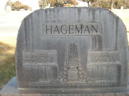 HAGEMAN, ELIZABETH M. - Dawes County, Nebraska | ELIZABETH M. HAGEMAN - Nebraska Gravestone Photos