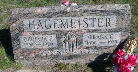HAGEMEISTER, GEORGIA F. - Dawes County, Nebraska   GEORGIA F. HAGEMEISTER - Nebraska Gravestone Photos