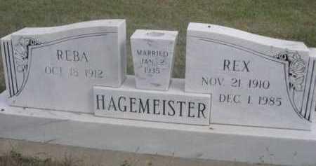 HAGEMEISTER, REX - Dawes County, Nebraska | REX HAGEMEISTER - Nebraska Gravestone Photos