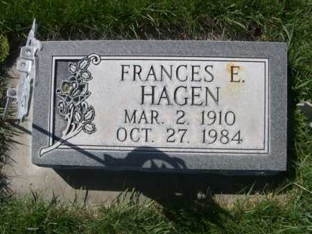 HAGEN, FRANCES E. - Dawes County, Nebraska | FRANCES E. HAGEN - Nebraska Gravestone Photos