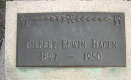 HAGEN, GILBERT EDWIN - Dawes County, Nebraska   GILBERT EDWIN HAGEN - Nebraska Gravestone Photos