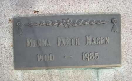 HAGEN, MERNA FAETH - Dawes County, Nebraska | MERNA FAETH HAGEN - Nebraska Gravestone Photos