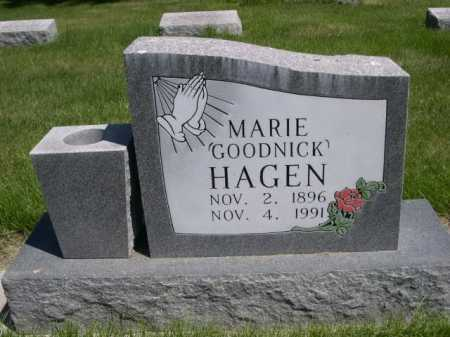 GOODNICK HAGEN, MARIE - Dawes County, Nebraska | MARIE GOODNICK HAGEN - Nebraska Gravestone Photos