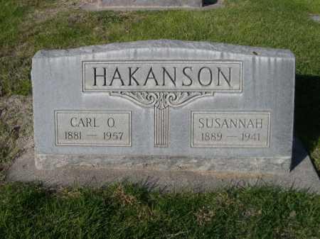 HAKANSON, SUSANNAH - Dawes County, Nebraska | SUSANNAH HAKANSON - Nebraska Gravestone Photos