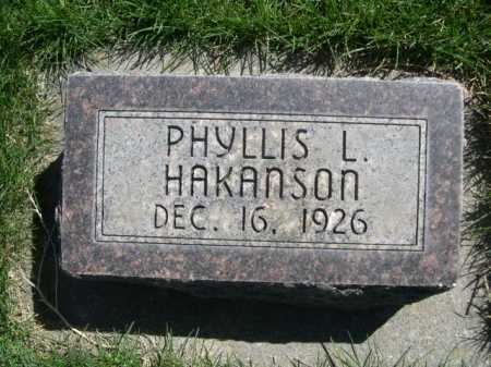 HAKANSON, PHYLLIS L. - Dawes County, Nebraska | PHYLLIS L. HAKANSON - Nebraska Gravestone Photos