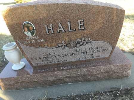 HALE, ELLIS (PEABODY) F. - Dawes County, Nebraska | ELLIS (PEABODY) F. HALE - Nebraska Gravestone Photos