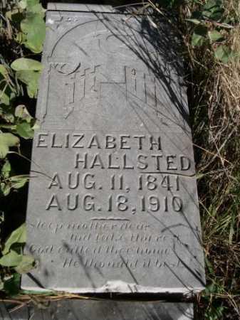 HALLSTED, ELIZABETH - Dawes County, Nebraska | ELIZABETH HALLSTED - Nebraska Gravestone Photos