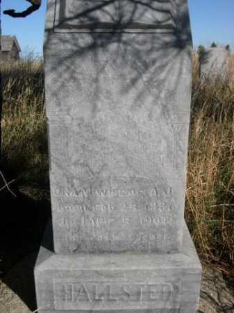 HALLSTED, ORA M. - Dawes County, Nebraska   ORA M. HALLSTED - Nebraska Gravestone Photos