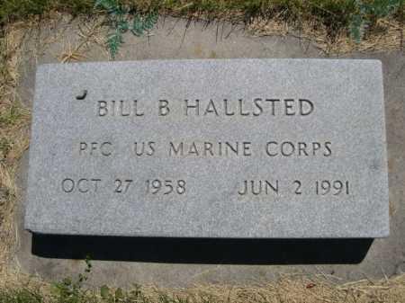 HALLSTED, BILL B. - Dawes County, Nebraska   BILL B. HALLSTED - Nebraska Gravestone Photos