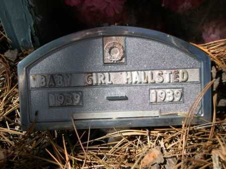HALLSTED, BABY GIRL - Dawes County, Nebraska | BABY GIRL HALLSTED - Nebraska Gravestone Photos