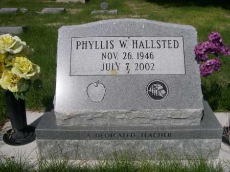 HALLSTED, PHYLLIS W - Dawes County, Nebraska | PHYLLIS W HALLSTED - Nebraska Gravestone Photos