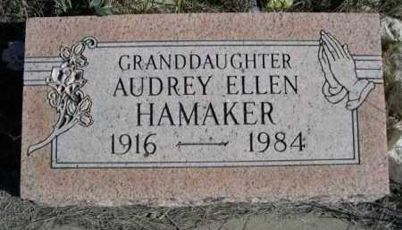 HAMAKER, AUDREY ELLEN - Dawes County, Nebraska | AUDREY ELLEN HAMAKER - Nebraska Gravestone Photos