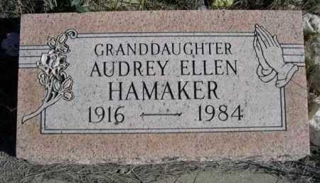 HAMAKER, AUDREY ELLEN - Dawes County, Nebraska   AUDREY ELLEN HAMAKER - Nebraska Gravestone Photos