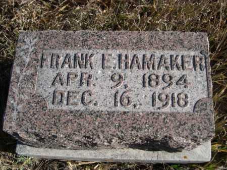 HAMAKER, FRANK E. - Dawes County, Nebraska | FRANK E. HAMAKER - Nebraska Gravestone Photos