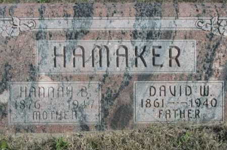 HAMAKER, DAVID W. - Dawes County, Nebraska | DAVID W. HAMAKER - Nebraska Gravestone Photos