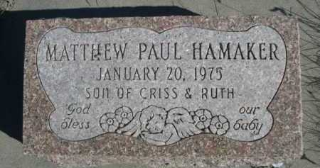 HAMAKER, MATTHEW PAUL - Dawes County, Nebraska | MATTHEW PAUL HAMAKER - Nebraska Gravestone Photos