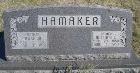 HAMAKER, WILLIAM C. - Dawes County, Nebraska | WILLIAM C. HAMAKER - Nebraska Gravestone Photos