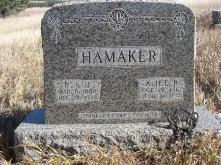 HAMAKER, ALICE B. - Dawes County, Nebraska | ALICE B. HAMAKER - Nebraska Gravestone Photos