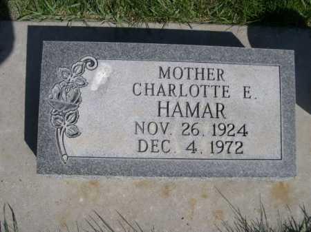HAMAR, CHARLOTTE E. - Dawes County, Nebraska | CHARLOTTE E. HAMAR - Nebraska Gravestone Photos