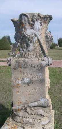 HAMLIND, W.A. - Dawes County, Nebraska   W.A. HAMLIND - Nebraska Gravestone Photos