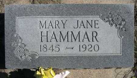 HAMMAR, MARY JANE - Dawes County, Nebraska | MARY JANE HAMMAR - Nebraska Gravestone Photos
