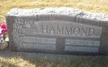 HAMMOND, GEORGE R. - Dawes County, Nebraska | GEORGE R. HAMMOND - Nebraska Gravestone Photos
