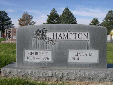 HAMPTON, LINDA M. - Dawes County, Nebraska | LINDA M. HAMPTON - Nebraska Gravestone Photos
