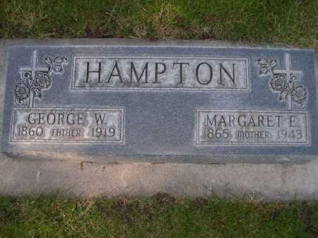 HAMPTON, MARGARET E. - Dawes County, Nebraska | MARGARET E. HAMPTON - Nebraska Gravestone Photos