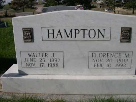 HAMPTON, WALTER J. - Dawes County, Nebraska | WALTER J. HAMPTON - Nebraska Gravestone Photos
