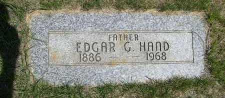 HAND, EDGAR G. - Dawes County, Nebraska | EDGAR G. HAND - Nebraska Gravestone Photos