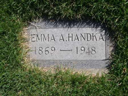 HANDKA, EMMA A. - Dawes County, Nebraska | EMMA A. HANDKA - Nebraska Gravestone Photos
