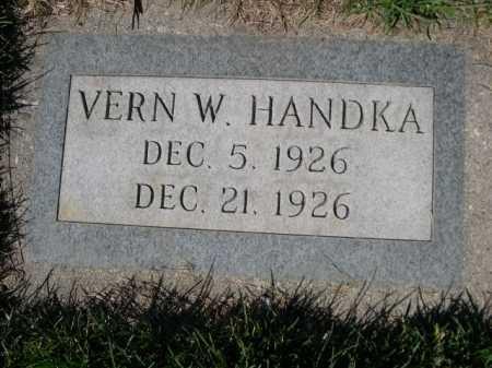 HANDKA, VERN W. - Dawes County, Nebraska   VERN W. HANDKA - Nebraska Gravestone Photos