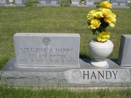 HANDY, GERALDINE A. - Dawes County, Nebraska   GERALDINE A. HANDY - Nebraska Gravestone Photos