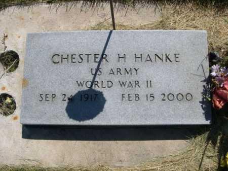 HANKE, CHESTER H. - Dawes County, Nebraska | CHESTER H. HANKE - Nebraska Gravestone Photos