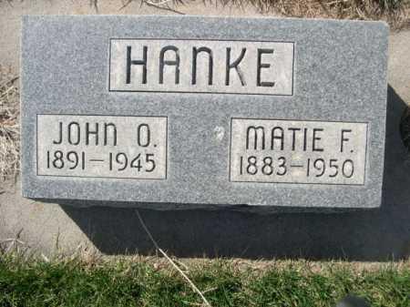 HANKE, JOHN O. - Dawes County, Nebraska | JOHN O. HANKE - Nebraska Gravestone Photos