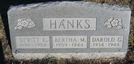 HANKS, DEWITT K. - Dawes County, Nebraska | DEWITT K. HANKS - Nebraska Gravestone Photos