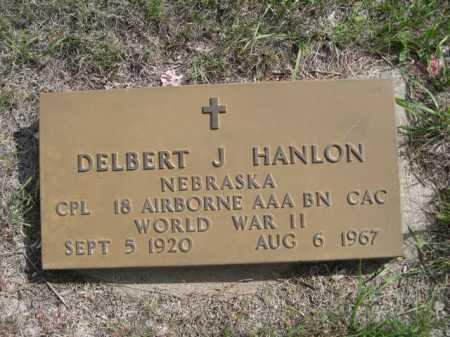 HANLON, DELBERT J. - Dawes County, Nebraska   DELBERT J. HANLON - Nebraska Gravestone Photos