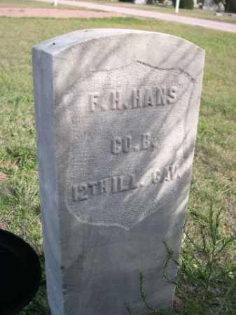 HANS, F. H. - Dawes County, Nebraska   F. H. HANS - Nebraska Gravestone Photos