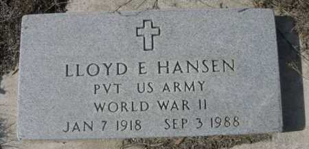 HANSEN, LLOYD E. - Dawes County, Nebraska | LLOYD E. HANSEN - Nebraska Gravestone Photos
