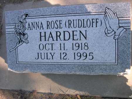 HARDEN, ANNA ROSE - Dawes County, Nebraska   ANNA ROSE HARDEN - Nebraska Gravestone Photos