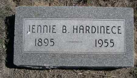 HARDINECE, JENNIE B. - Dawes County, Nebraska   JENNIE B. HARDINECE - Nebraska Gravestone Photos