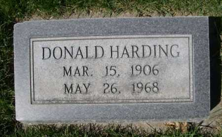 HARDING, DONALD - Dawes County, Nebraska | DONALD HARDING - Nebraska Gravestone Photos