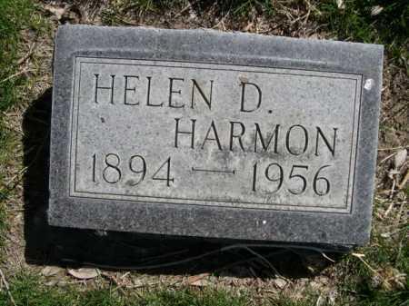 HARMON, HELEN D. - Dawes County, Nebraska | HELEN D. HARMON - Nebraska Gravestone Photos