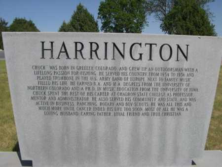 "HARRINGTON, CHARLES ""CHUCK"" - Dawes County, Nebraska | CHARLES ""CHUCK"" HARRINGTON - Nebraska Gravestone Photos"