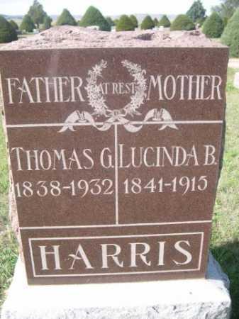 HARRIS, LUCINDA B. - Dawes County, Nebraska | LUCINDA B. HARRIS - Nebraska Gravestone Photos